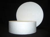Styropor schijf voor taart doorsnee 10cm - 7cm hoog