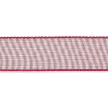 Organza lint 16mm breed Donkerroze