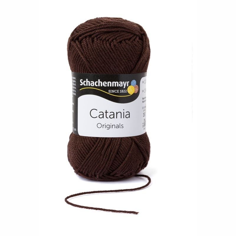 Catania katoen 162 Chocolade bruin