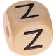 Houten Letterkraal gegraveerd 10mm   - Z -