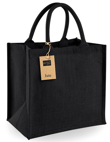 Jute tas Midi shopper  Zwart