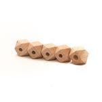 Durable houten hexagon kralen - 10mm- 5 stuks