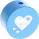 Houten kraal hart hemelblauw ''babyproof''