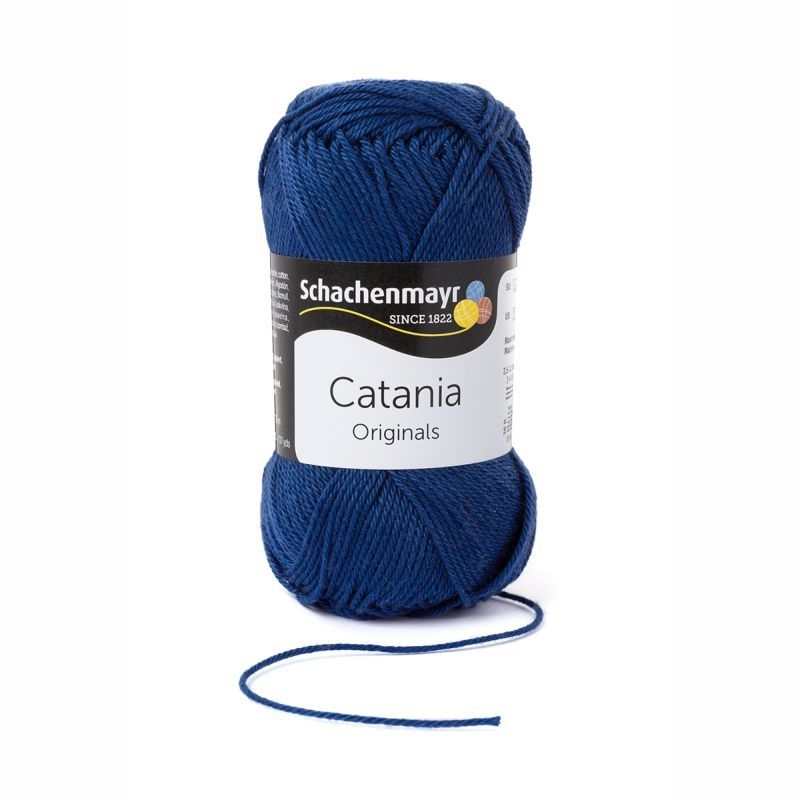 Catania haakkatoen 164 Jeansblauw