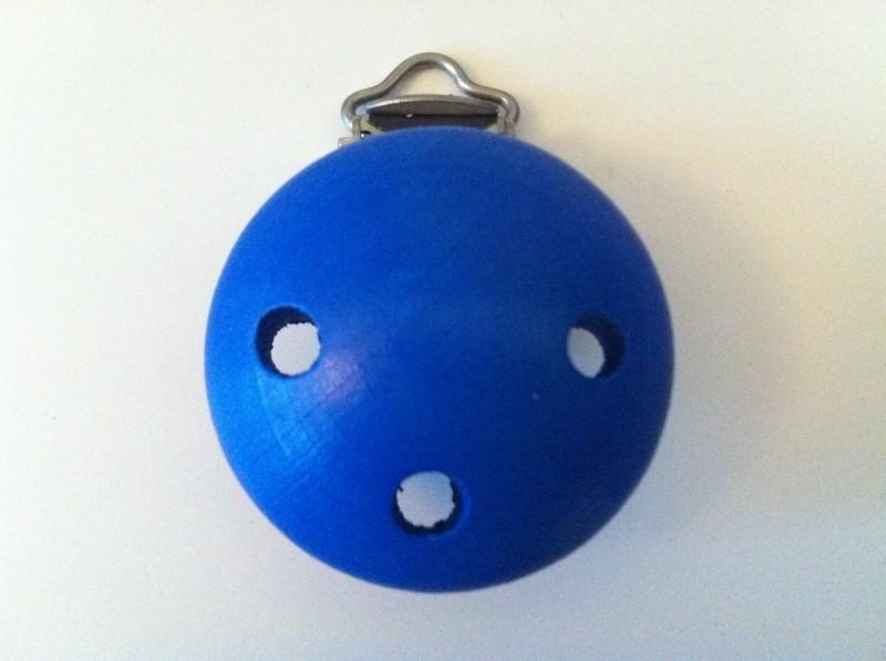 Houten speenclip kobaltblauw