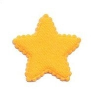 Ster Vilt Oranje  3,5 x 3,5 cm