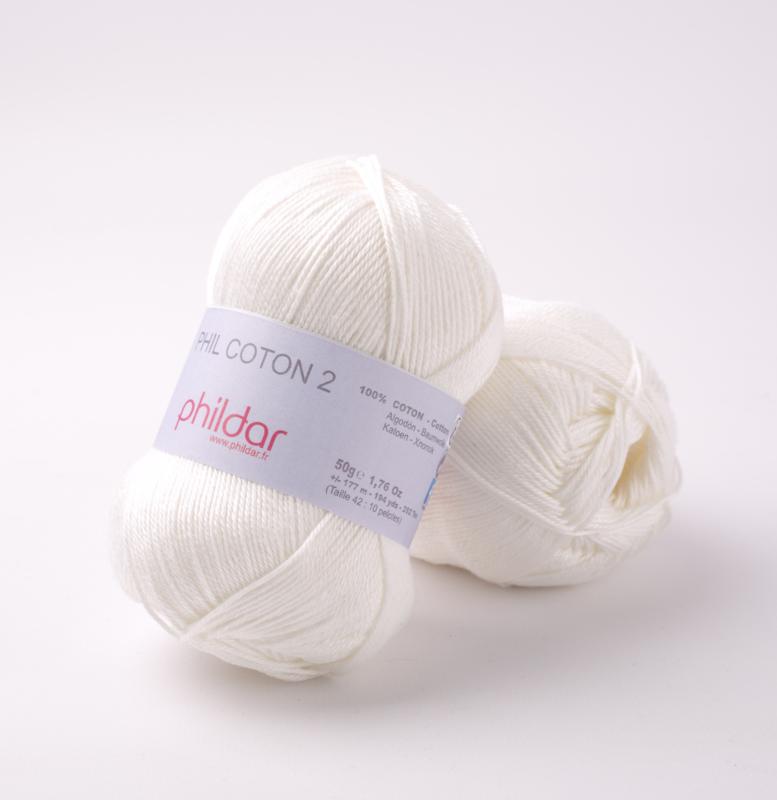 Phildar Coton 2 Craie 0049
