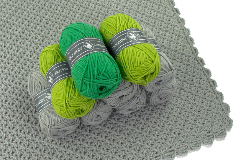 Garenpakket Shape of You omslagdoek Grijs -Groen-Lime - versie