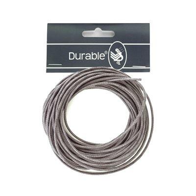 Durable Waxkoord 1mm - 5 meter - Antraciet