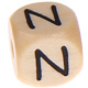Houten Letterkraal gegraveerd 10mm   - N -