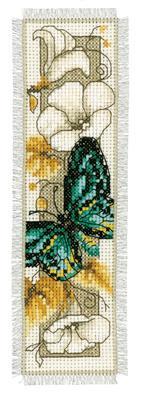 Bladwijzer Vlinders en bloemen groen