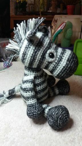 Dirk zebra gemaakt door Patricia