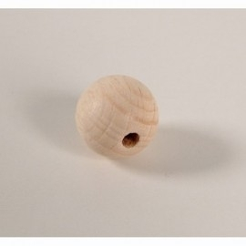 Blanke houten kraal 15 mm