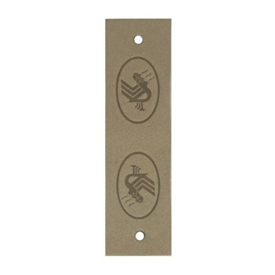 Durable leren label beige