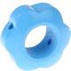Houten bloemkraal hemelblauw  ''babyproof''