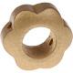 Houten bloemkraal goud  ''babyproof''