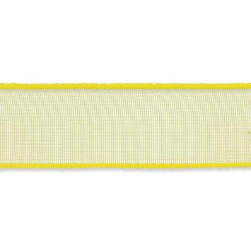 Organza lint 16mm breed Geel