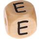 Houten Letterkraal gegraveerd 10mm  - E -