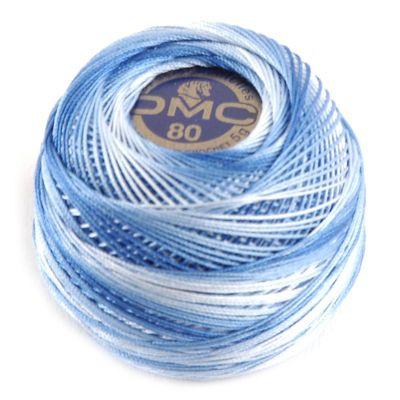 DMC 80 Dentelles haakgaren 93 blauw gemeleerd