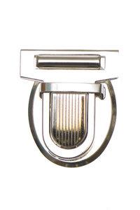 Metalen tas sluiting zilverkleurig ca. 32x38