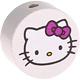 Houten kraal rond ''Hello Kitty'' wit ''babyproof''