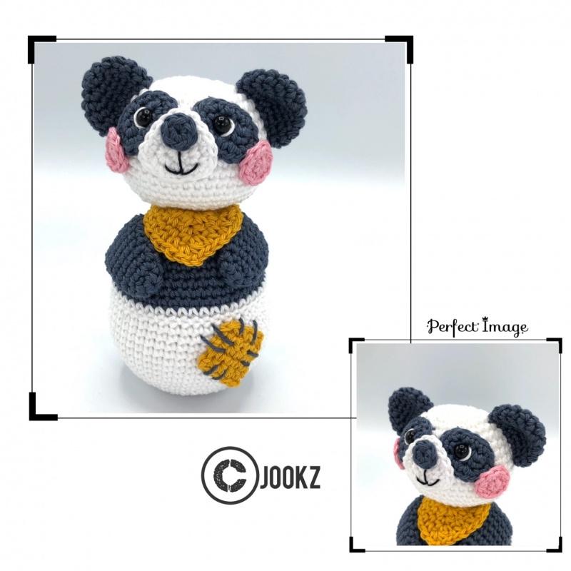 Garen en fournituren pakket MINI Tuimelaar Panda