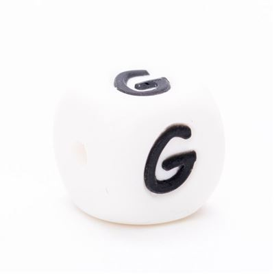 Siliconen letterkraal  - G
