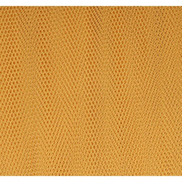 Tule Licht oranje/goud afm: 150cm breed per meter!