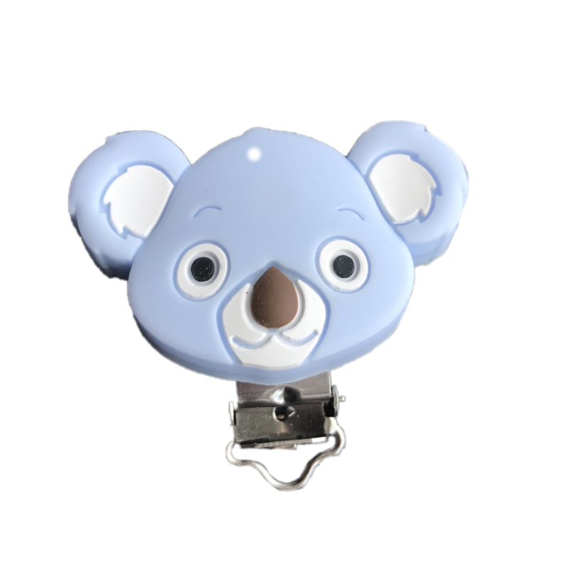 Siliconen speenclip Koala - Lichtblauw