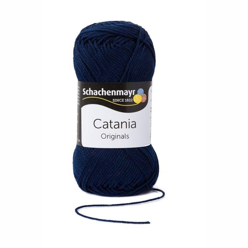 Catania katoen 124  Marine/ donkerblauw