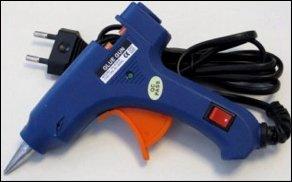 Lijmpistool 20 watt klein (blauw)