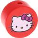 Houten kraal rond ''Hello Kitty'' rood ''babyproof''