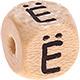Houten Letterkraal gegraveerd 10mm  - Ë -