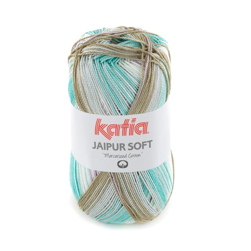 Katia Jaipur Soft 100 Waterblauw-Lila-Reebruin