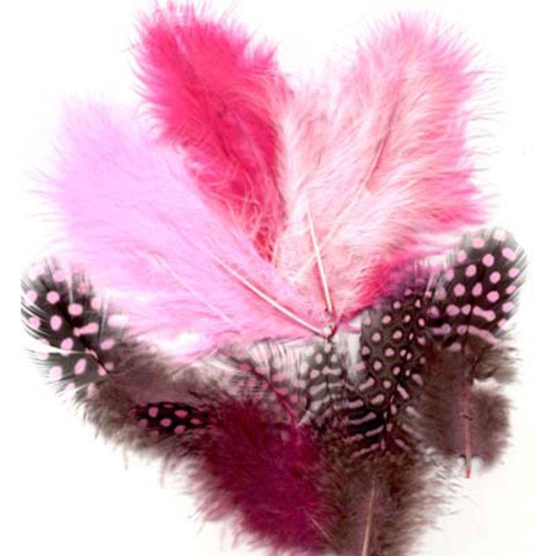 Veertjes mix - roze -