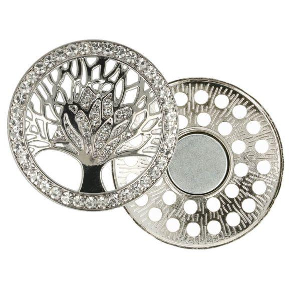 Magnetische Broche boom 45mm Zilver