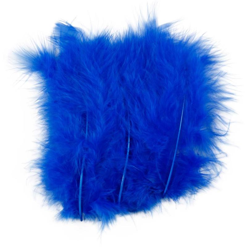 Veertjes 5-12cm ±15 stuks - Blauw
