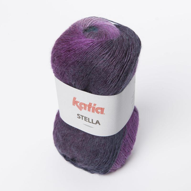Katia Stella 74 Lila-Groenblauw