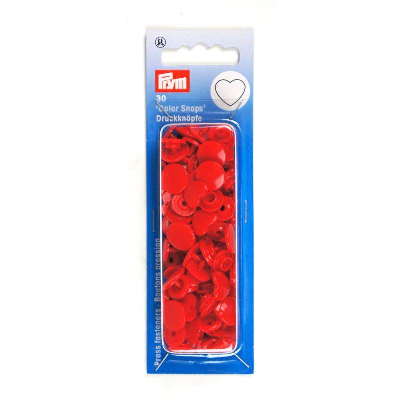 Kamsnaps Prym hart 12,4mm rood