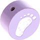 Houten kraal babyvoetjes lila ''babyproof''