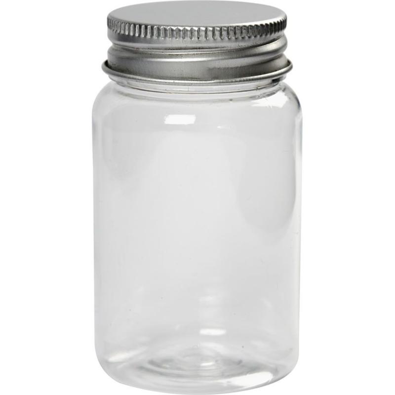Plastic potje met schroefdop 100ml