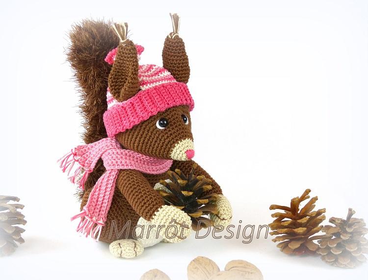 Eekhoorn Tess garens en fourniturenpakket  patroon apart bestellen
