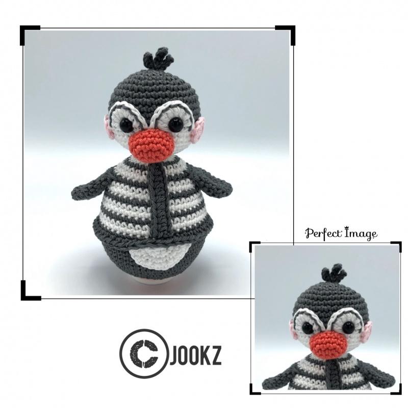 Garen en fournituren pakket MINI Tuimelaar Pinguin