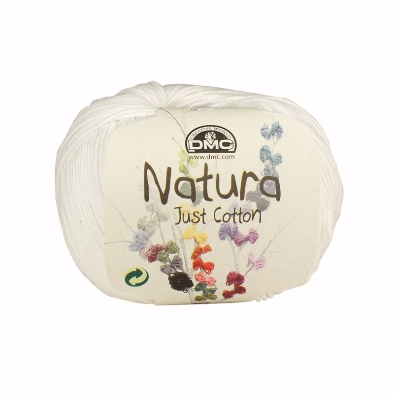 DMC Natura Just Cotton N01 Ibiza (wit)