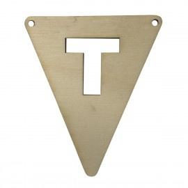 Houten vlagletter T