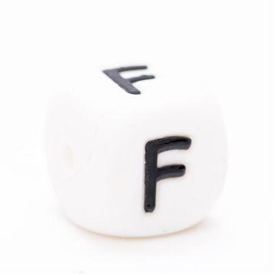 Siliconen letterkraal  - F