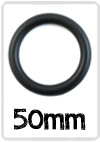 Ring Zwart nylon 50mm