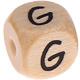 Houten Letterkraal gegraveerd 10mm  - G -
