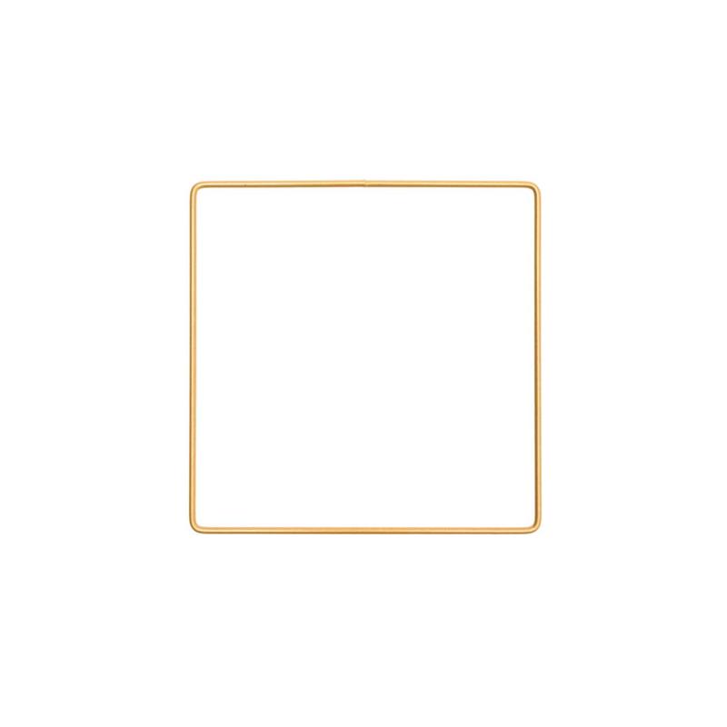 Metalen frame vierkant 15x 15cm Donkergoud