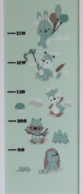 Dendennis borduurpakket Little Woodland Adventure groeimeter